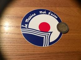 "AUTOCOLLANT, Sticker ""la Marine Moi J'aime"" - Autocollants"