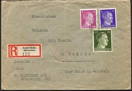 (1828) R-Brief Deutsches Reich Hitler Aus 9a ANDRICHAU, Poln. Andrychów, Oberschlesien, 21.8.1944 - Deutschland