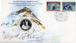 Nepal 29 May 1978 Commemorative Cover Signed Hillary & Tenzing - Nepal