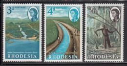 Rhodesia 1965 MNH Sc #203-#205 Bangala Dam, Irrigation Canal, Sugar Cane - Rhodésie (1964-1980)