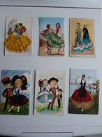 Lot De 9 Cartes Brodées - Postcards