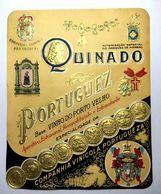 Rotulo QUINADO PORTUGUEZ Companhia Vinicola Portugueza. Autorização Do Marquês De Pombal. Old Wine Label PORTO PORTUGAL - Etiquettes