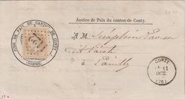 France Lettre De Conty 1870 - Marcophilie (Lettres)