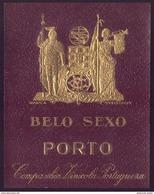 "Rotulo Dourado: Vinho Do Porto ""BELO SEXO""Companhia Vinicola Portugueza. Vintage Port Wine Label - Etiquettes"
