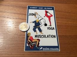 AUTOCOLLANT, Sticker «JUDO YOGA MUSCULATION - CLAMECY (58) - RHÔNE-POULENC» - Autocollants