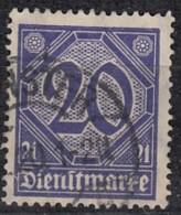 DR Dienst 19 A, Geprüft, Gestempelt, Geprüft, Dienstmarke 1920 - Dienstpost