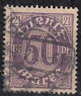 DR Dienst 21, Gestempelt, Geprüft, Dienstmarke 1920 - Dienstpost