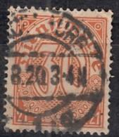 DR Dienst 20, Gestempelt, Geprüft, Dienstmarke 1920 - Dienstpost