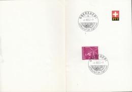 PTT Blatt  Mit CH 568, Mit Sonderstempel: Oberägeri 6.III.1952 - Cartas