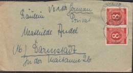 AllBes GemAusg. 2x 917 MeF Auf OrtsBrief Mit Stempel: Darmstadt 1.10.1946 - Gemeinschaftsausgaben