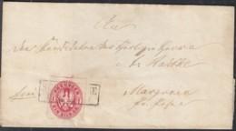 PREUSSEN 16 A EF, Auf Brief Mit Unleserlichem Stempel - Preussen