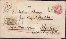 PREUSSEN U 20 A + ZFr. 18 A, Wert-Brief Mit Stempel (R2): Schubin 29.12. - Preussen