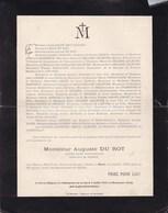 PARIS HONNECOURT Ancien Maire Auguste DU ROT 55 Ans 1925 Familles HAZARD CREPIN LELEU - Overlijden