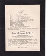 VILLERS-POTERIES IXELLES Léon BOLLE 1862-1929 Société L'Elan De CHATELINEAU Denrées Coloniales - Overlijden