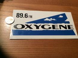 AUTOCOLLANT, Sticker «OXYGÈNE 89.6 FM» (radio) - Autocollants