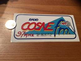AUTOCOLLANT, Sticker «RADIO COSNE Fl - AFP - 97MHZ» (Nièvre 58) - Autocollants