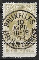 75 - Leopold II - Grove Baard - Obl 'BRUXELLES - EFFETS DE COMMERCE - 1905 Grosse Barbe