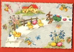 VAP-36 Joyeuses Pâques, Lapin Poussins Et Oeufs. Non Circulé - Pâques