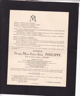 BINCHE GRIVEGNEE Georges PHILIPPE Veuf CASSART 1872-1935  Congrès International Des Chemins De Fer De SPIRLET - Obituary Notices