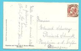 74 Op Kaart Met Stempel MORESNET (BELGE) (Oostkantons) (cantons De L'Est) - 1905 Grosse Barbe
