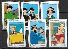 France 2007 N° 4051/4056 Neufs Tintin Sous Faciale - France