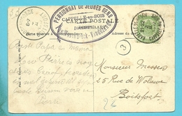 56 Op Kaart Met Stempel KAPELLE-O/D-BOSCH / CAPPELLE-AU-BOIS (28mm) Als Aankomst BOSCHVOORDE - 1893-1907 Armoiries