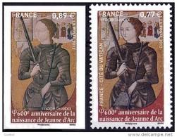 France N° 4654 A ** Et 4654 ** Ou 4582 A (du Cat. Maury) Variété, Jeanne D'ARC Non émis 0,89  Non Dentelé - France