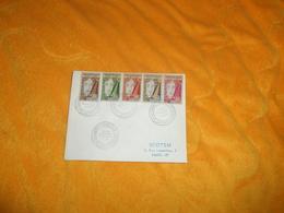 ENVELOPPE UNIQUEMENT DE 1958. / CACHETS 1ER ANNIVERSAIRE DE LA REPUBLIQUE. + TIMBRES X5. - Tunisie (1956-...)
