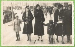 Lisboa - Senhoras E Meninos No Rossio - Mulher - Woman - Femme - Enfant - Child - Vintage - Belle Époque - Portugal - Lisboa