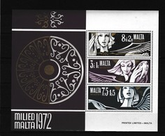 Malta 1972  Blok Nr 2 **, Zeer Mooi Lot K 964 - Non Classés
