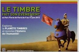 Lot De 5 Cartes Prêts à Poster Neuf Sous Blister - Salon Planète Timbres 2012 - Parc Floral. - Entiers Postaux