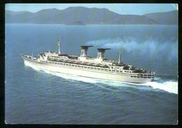 GENOVA - 1968 - LA TURBONAVE RAFFAELLO - Piroscafi