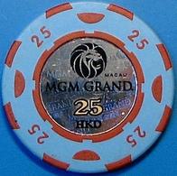 HK$25 Casino Chip. MGM Grand, Macau. N39. - Casino