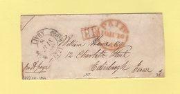 Livry - 72 - Seine Et Oise - 8 Juin 1844 - Destination Ecosse - Sans Correspondance - 1801-1848: Précurseurs XIX
