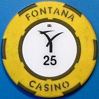 P25 Casino Chip. Fontana, Pampanga, Philippines. N39. - Casino