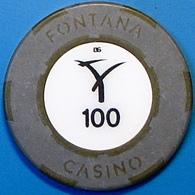 P100 Casino Chip. Fontana, Pampanga, Philippines. N39. - Casino