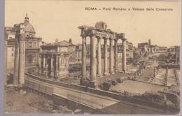 ARCHAEOLOGY  MONUMNETS ITALIA 1911, POSTCARD,   ROMA  FORO ROMANO E TEMPIO DELLA CONCORDIA - Monuments