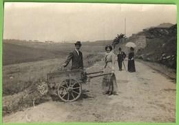 Portugal - REAL PHOTO - Senhora Conduzindo A Carroça - Mulher - Woman - Femme - Vintage - Belle Époque - Transporte - Customs