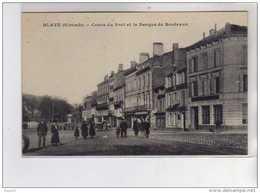 BLAYE - Cours Du Port Et La Banque De Bordeaux - Très Bon état - Blaye