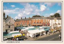Postcard Ashbourne The Market Place Derbyshire [ Animated Market Scene ] My Ref  B23343 - Derbyshire