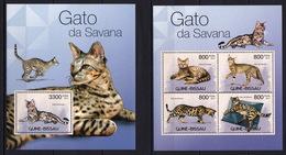 Guinea Bissau 2012 - Gato Da Savanna - Cats - Stamps - MNH** XR - Domestic Cats