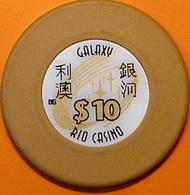 HK$10 Casino Chip. Galaxy Rio, Macau. N40. - Casino