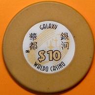 HK$10 Casino Chip. Galaxy Waldo, Macau. N40. - Casino
