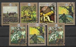 TOGO 1970 ANNIVERSARIO DELL'ORGANIZZAZIONE DEL LASVORO - YVERT. 649-653+POSTA AEREA 126-127 USATA VF - Togo (1960-...)