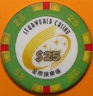 HK$25 Casino Chip. Star World, Macau. N40. - Casino