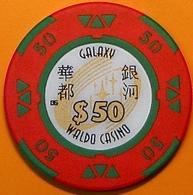 HK$50 Casino Chip. Galaxy Waldo, Macau. N40. - Casino