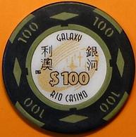 HK$100 Casino Chip. Galaxy Rio, Macau. N40. - Casino