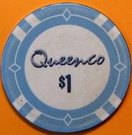 $1 Casino Chip. Queenco, Sihanoukville, Cambodia. N40. - Casino