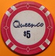 $5 Casino Chip. Queenco, Sihanoukville, Cambodia. N40. - Casino