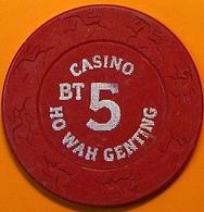 5 Casino Chip. Ho Wa Genting, Poipet, Cambodia. N40. - Casino